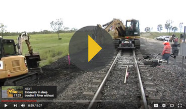 Hi-Rail Excavators... A World First